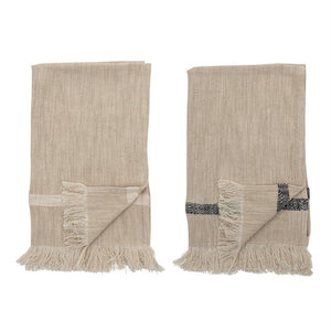 Striped Tea Towels with Fringe