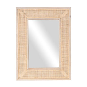 Rectangular Cane Mirror