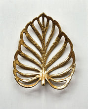 Decorative Cast Iron Leaf, Gold