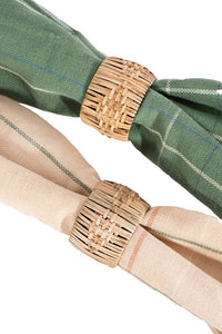 Woven Cane Napkin Rings, Set of 4