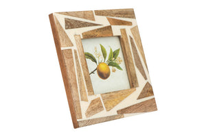 Square Wood & Resin Photo Frame