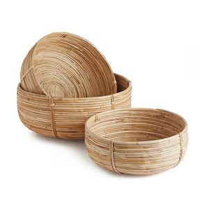 Cane Rattan Low Baskets