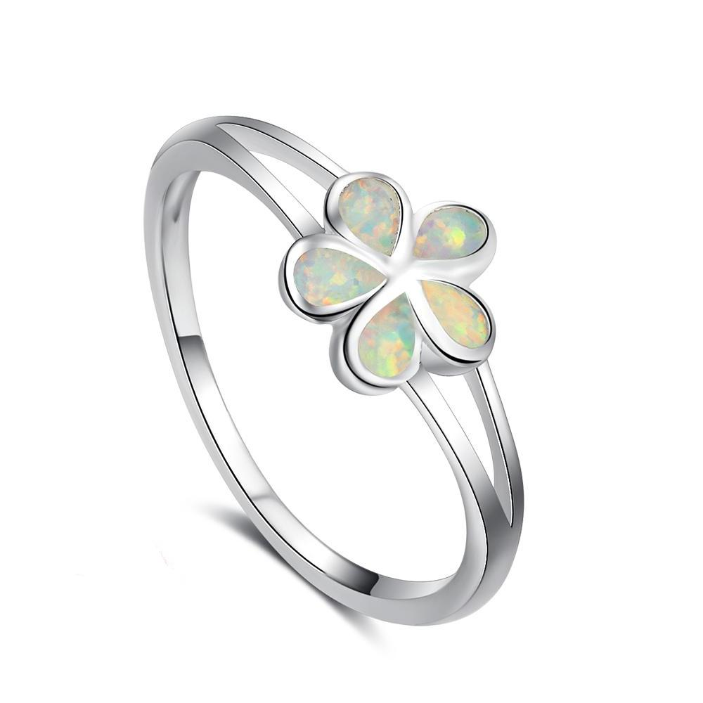 Fine jewelry 100 925 sterling silver daisy flower ring classic fine jewelry 100 925 sterling silver daisy flower ring classic opal stone izmirmasajfo