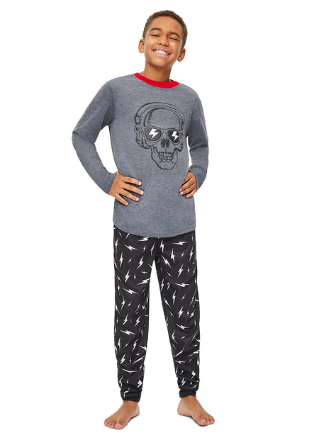 Boys Knit 3-Piece Pajamas Sleep Pant & Shorts Set | Short Sleeve Top
