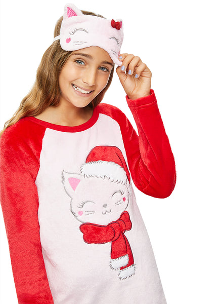 Long Sleeve Pink Cat Sleeve Shirt