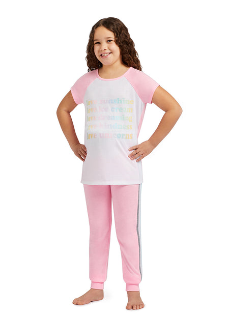 Girls 2-Piece Pajama Set with Fun Design | 3D Character Hoodie & Shorts
