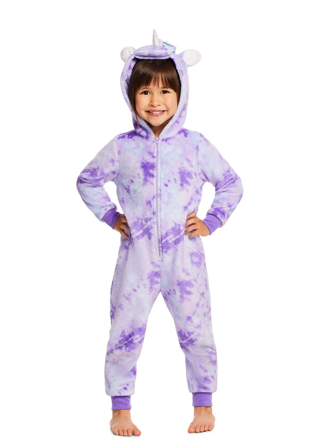 Girls Pajamas - Plush Zippered Unicorn Kids Onesie Blanket Sleeper