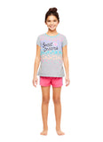 Girls Knit 3-Piece Pajamas Sleep Pant & Shorts Set