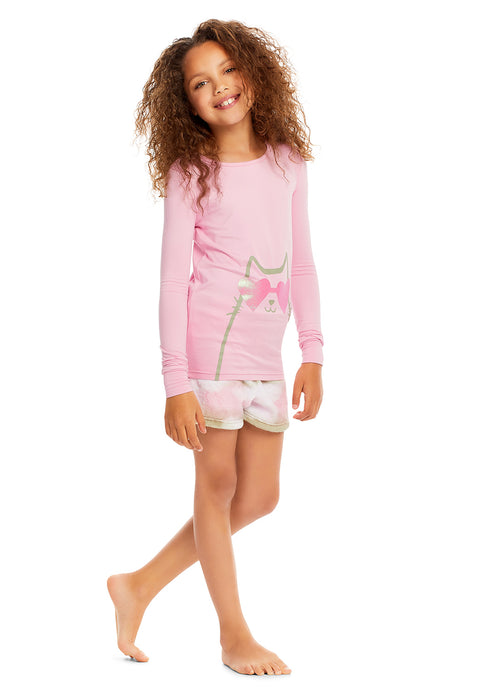 Girls 3-Piece Pajamas Cat