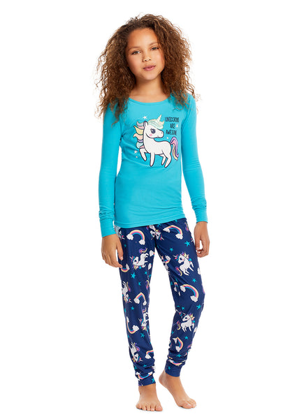 Girl Pajama Unicorn 3 piece set