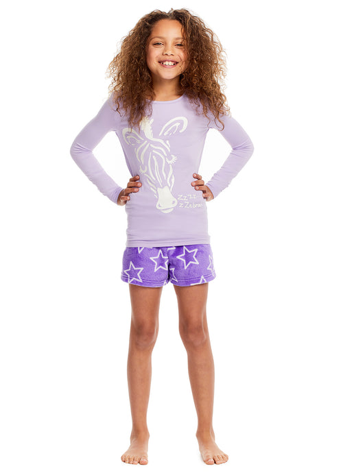 Girls 3-Piece Pajamas Set Zebra