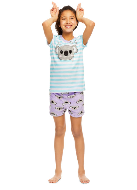 Girls Pajama Bottoms, Cozy Fleece Sleep Pants, Cloud, by Jellifish Kids