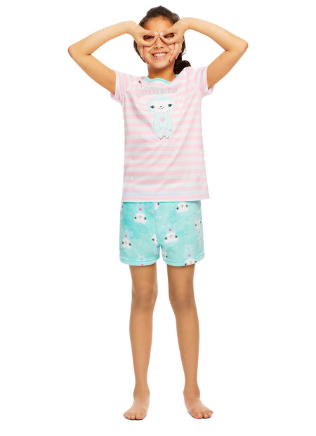 Girls Narwhal Pajamas | Plush Zippered Kids Onesie Blanket Sleeper