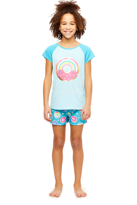 Girls 2-Piece Knit Pajamas Short Set, by Jellifish Kids Dream