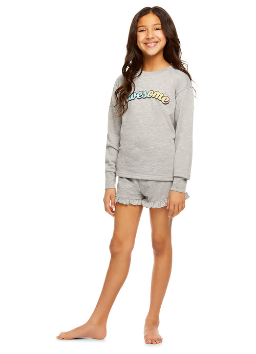 Girls Knit 2-Piece Pajamas