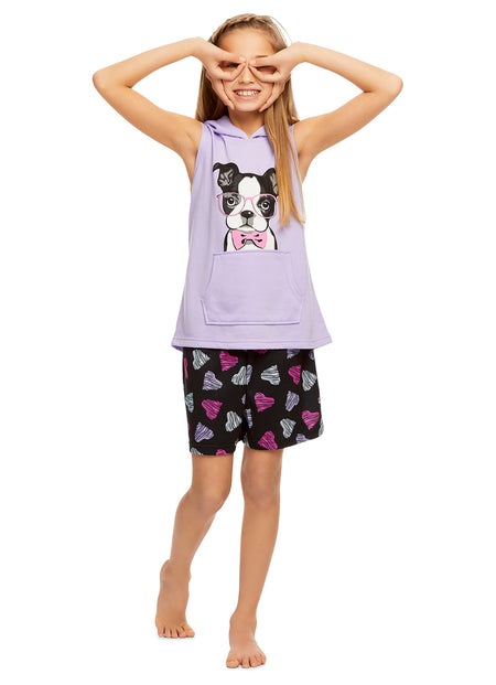 Girls 2 Piece Pajama Set | Long Sleeve Unicorn Shine Print Top & Velour PJ Pants
