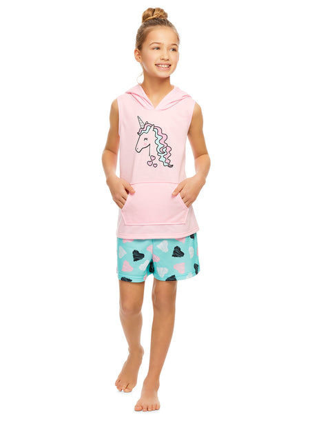 Girls Plush Pajama Bottoms | Fleece Dog Print Jogger Sleep Pants