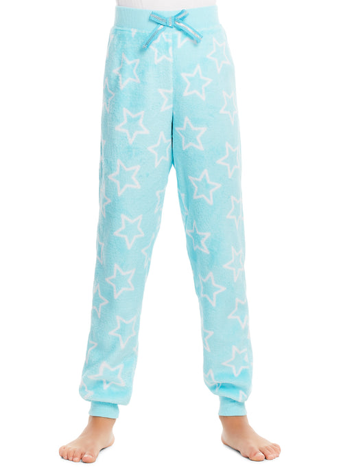 Girls Pajama Bottoms, Cozy Fleece Sleep Pants, Stars