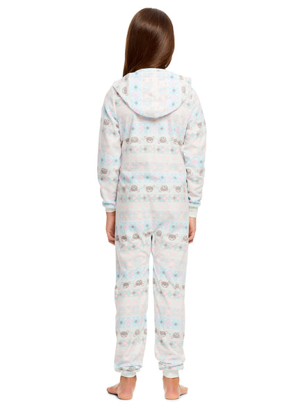 Girls Koala Pajamas | Plush Zippered Kids Onesie Blanket Sleeper