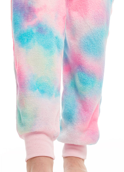 Girls Pajamas | Plush Zippered Narwhal Kids Onesie Blanket Sleeper Size L