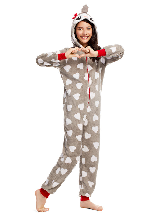 Toddlers & Girls Pajamas, Blanket Sleeper Onesies with 3D Penguin Hood