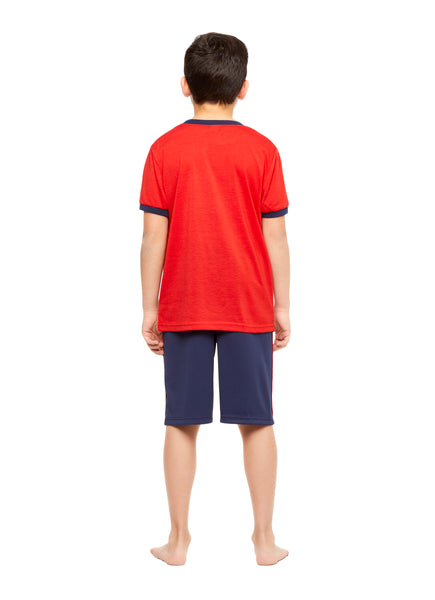 Boys Knit 3-Piece Pajamas Sleep Pant & Shorts Set, by Jellifish Kids