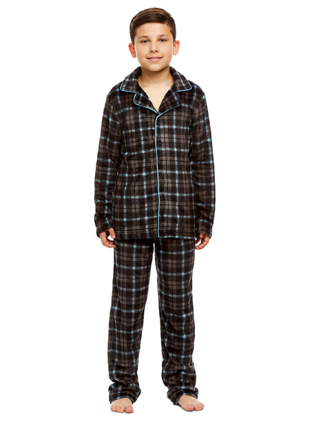 Boys Camo 2 Piece Pajama Set | Long-Sleeve Button-Down Top & PJ Pants