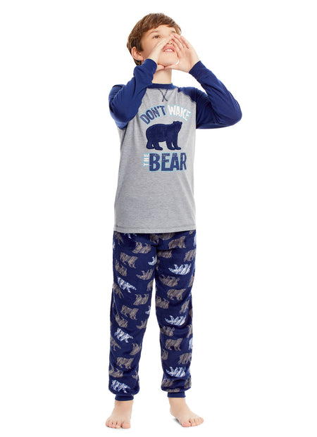Boys Sleep Robe | Navy Frosted Plush Bathrobe
