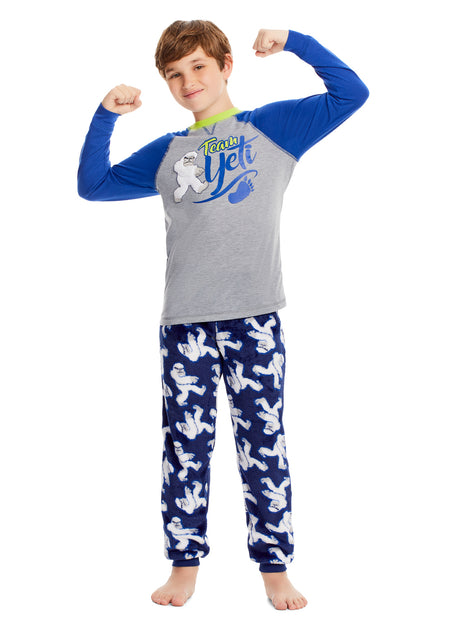 Boys 3-Piece Pajama Set | Dino Print Top, Jogger Pants & Shorts