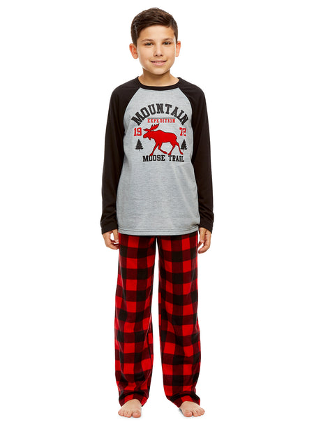 Girls 2 Piece Pajama Set | Long Sleeve PJs All Day Print Tee & PJ Pants