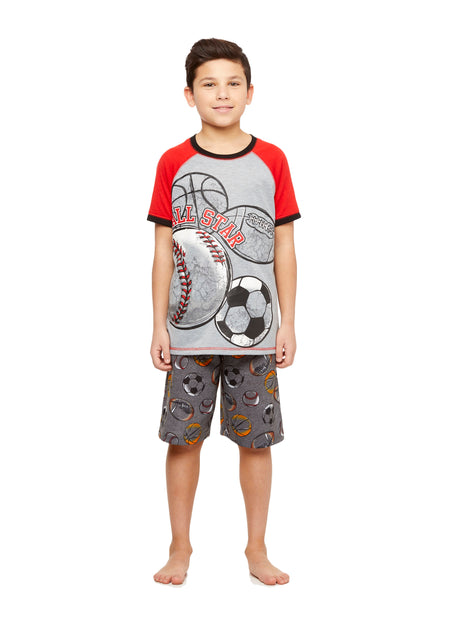 Boys Moose 2 Piece Pajama Set | Long-Sleeve Button-Down Top & PJ Pants