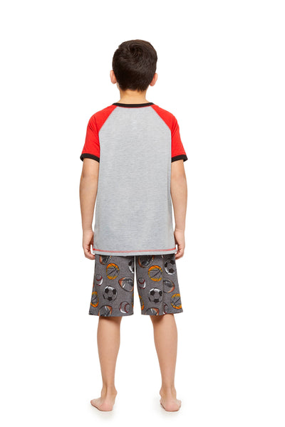 Boys 2-Piece Knit Pajamas Shorts Set, by Jellifish Kids Sports
