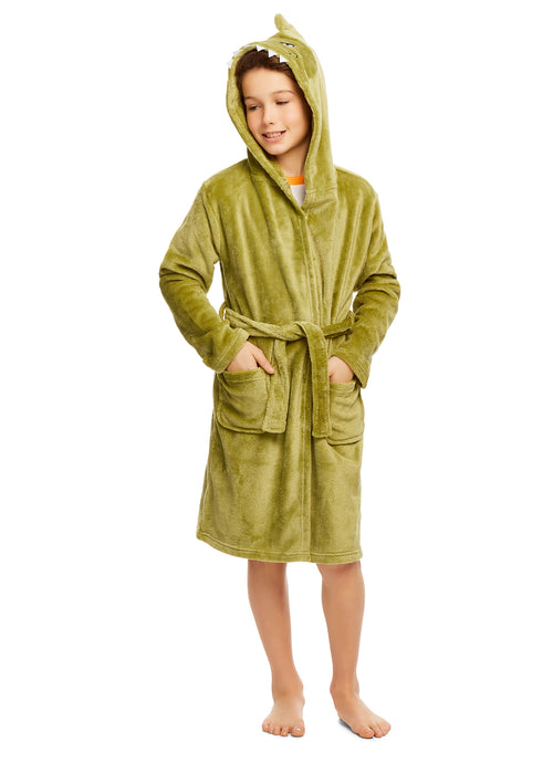 Boys 3D Character Fleece Sleep Robe | Soft & Cozy Kids Bathrobe