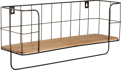 Basket Wire Shelf with Towel Bar