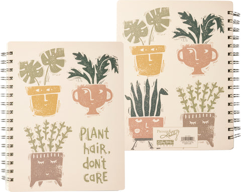 Plant Hair Don't Care Spiral Notebook
