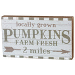 Local Grown Pumpkins Box Sign