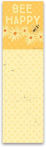 Bee Happy Yellow Notepad