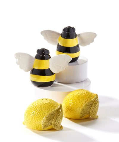 Bee and Lemon Salt and Pepper Shakers