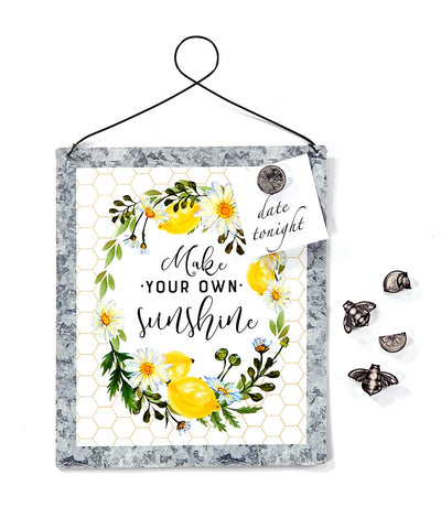 Make Your Own Sunshine Magnet Board