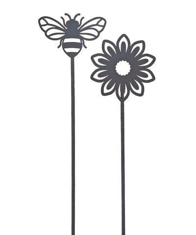 Bee and Flower Plant Stakes