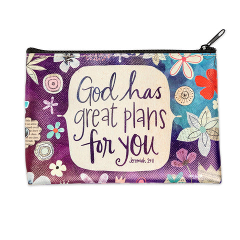 God has Plans Zipper Coin Purse