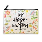 My Hope is in You Zippered Coin Purse