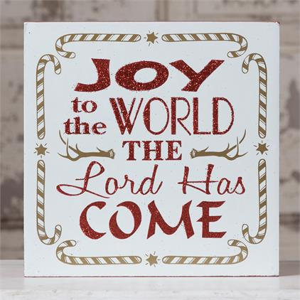 Joy to the World Boxed Sign