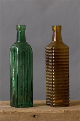 Vintage Look Glass Bottles