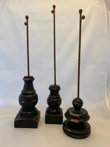 Black Display Stands and Stakes by The Round Top Collection