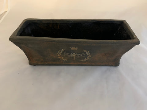 Rectangle Dragonfly Crest Planter