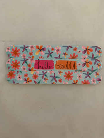 Floral Emery Board Set