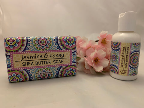 Jasmine and Honey Shea Butter Soap and Lotion Set