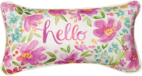 """Hello"" Pillow by Manual Weavers"