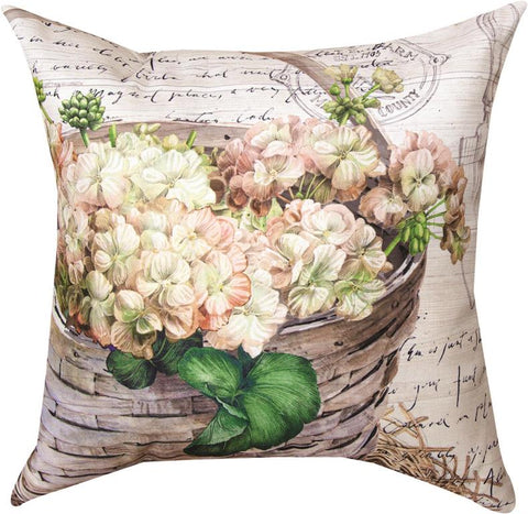 Farmhouse Flowers in Basket Pillow